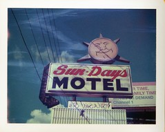 (patrickjoust) Tags: usa sun color film sign analog rural america polaroid us focus florida united country north patrick motel rangefinder days 350 automatic type instant fl 100 states manual expired joust range finder ocala estados 669 unidos polacolor autaut patrickjoust
