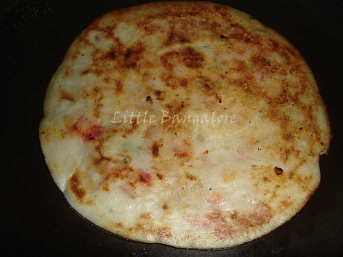 One sided cooked Uttapam