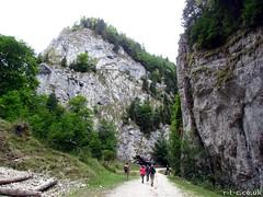 The group trekking through the canyon (Tim R-T-C) Tags: holiday trekking hiking canyon romania limestone gorge carpathians zarnesti piatracraiului carpathia braşov carpathianmountains keadventure southerncarpathians piatracraiuluinationalpark transylvaniatraverse zarnestihorseshoe parculnaţionalpiatracraiului zarnestigorge