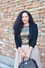 Sequins & Pleats (GirlWithCurves) Tags: sequins curlyhair pleats fallfashion plussize fashionblog plussizefashion girlwithcurves taneshaawasthi