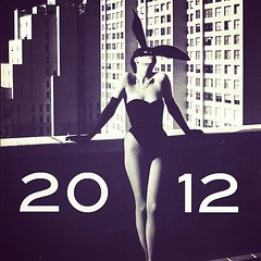 2012 (*vanessa.) Tags: nyc blackandwhite sexy vintage mask kitsch newyear retro 2012 playboybunny january2012
