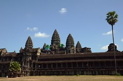 Angkor Wat with its 5 towers