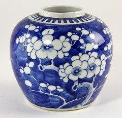 38. Chinese Double Ring Ginger Jar with Prunus Blossoms