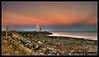Pier, Devonport, Tasmania (darreng2011) Tags: ocean pink blue sunset sky water grass statue rocks steps rail tasmania devonport wow1 wow2 wow3 wow4 wow5
