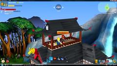 Lego Universe Prop: Forest Dojo (The Potato Lord) Tags: lego ninja property creation samurai dojo universe moc mashmellow