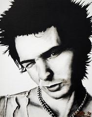 Sid Vicious #2 011812 (SurvivorMyke) Tags: portrait music celebrity art punk sexpistols sidvicious portraitpainting celebrityportrait