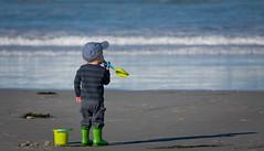 green (Lisa Ouellette) Tags: california beach monterey kid kayak shovel paddling rubberboots wellingtons pail asilomarstatebeach bask greenboots
