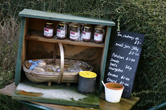 MICRO MARKET (Adam Swaine) Tags: county uk england food green english beautiful rural canon countryside wooden flora village britain villages east jam jars 2012 counties naturelovers 24105mm thisphotorocks adamswaine mostbeautifulpicturesmbppictures wwwadamswainecouk surrey2012