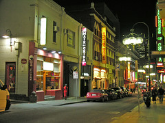 One night in Chinatown (Roving I) Tags: signs streets tourism retail nightshot streetlamps parking restaurants australia melbourne victoria shops nightlife melbournec