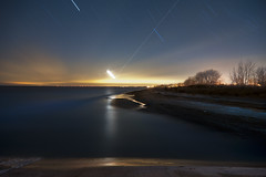 K7__9899 (Bob West) Tags: longexposure nightphotography winter moon ontario beach night lakeerie greatlakes moonlight nightshots startrails 1c k7 erieau southwestontario bobwest pentax1224