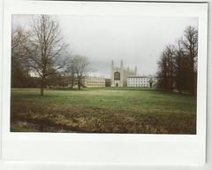 king's college chapel (saranisha) Tags: cambridge kingscollege cambridgeuniversity clarecollege fujifilminstax