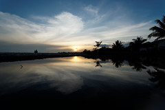 #850C9827- Reflections of sunset and clouds (crimsonbelt) Tags: sunset beach clouds reflections waters balikpapan melawai