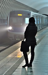 Impatiently waiting, Almaty, Kazakhstan, Metro, January 29, 2012 (Ivan S. Abrams) Tags: metro centralasia kazakhstan almaty жена представисичесижена