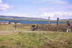 2000-08-19 051 Ring of Brodgar and a bike (martyn jenkins) Tags: neolithic ringofbrodgar orkneys orkneymainland