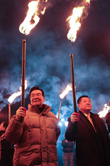 2012 Jeju Fire Festival #39 Smaller (DMac 5D Mark II) Tags: street camera travel winter light people men heritage tourism nature festival night lens asian fire evening photo interestingness google interesting women asia photographer shadows natural top smoke flames ceremony photojournalism silhouettes best explore torch most views heat southkorea jeju baidu journalism reviews 2012 mostviewed naver googleimages daum fredmiranda explored daeboreum canoneos5dmarkii jeongwol jeongwoldaeboreumfirefestival wwwfredmirandacom douglasmacdonald instagram jejuweekly 2012jejufirefestival