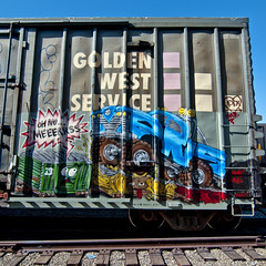 Oh no.... MERS (TRUE 2 DEATH) Tags: railroad train truck graffiti 4x4 tag graf trains railcar spraypaint boxcar railways railfan freight lords cbs monstertruck freighttrain rollingstock mers diar goldenwestservice benching freighttraingraffiti