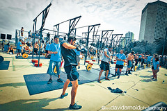 Crossfit 3 V2 (davidarnoldphoto) Tags: park people woman man building tree men sports sport outside office official women exercise florida miami crowd watching competition event athletes athlete spectator weights barbell extremesport 2012 lifting bayfrontpark crossfit crossfitcompetition 2012wodapalooza wodapalooza