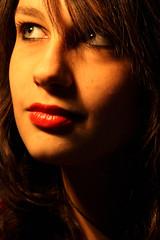 february 6, Federica (ria) Tags: she light shadow portrait orange woman eye girl beautiful smile face dark donna eyes shadows darkness ombra lips ombre occhi rocker sorriso federica ritratto occhio luce arancione ragazza faccia rieti oscurit greengirl labbra bagliore ria