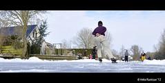 Schaatsen op de Zwette 'Swette' (Sneekertrekvaart)  in Sneek (Ankie Rusticus, I'm not much here) Tags: winter snow cold sneeuw skating ijs schaatsen koud sneek swette