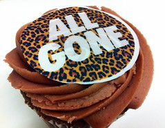 Leopard Cupcakes (Cherrybomb Ink) Tags: uk food london work fun photography cupcakes flickr sweet sneakers leopardprint snacks booksigning limitededition footpatrol streetwear cherrybomb funphotography allgonebook iphonephotography cherrybombink iphone4photography takenwithaniphone4 michaeldupouy streetwearbible