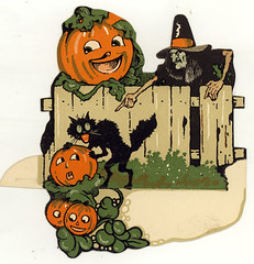 Dennison Halloween Place Card (matthewkirscht) Tags: house halloween vintage place witch haunted invitation card hallmark dennison