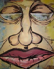 SEA EYES (turnermashed62) Tags: portrait scale face ink eyes acrylic watercolour mixmedia seaface a0