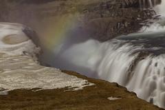 Gold hunting (aerojad) Tags: longexposure travel vacation nature river landscape waterfall iceland rainbow canyon wanderlust gullfoss goldencircle hvt daytimelongexposure iceland2016