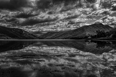 Look over your shoulder (MarkWaidson) Tags: reflection water clouds scotland loch fyne