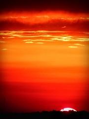 Slip, Sliding Away (clarkcg photography) Tags: sunset red orange sun clouds evening twilight glow horizon