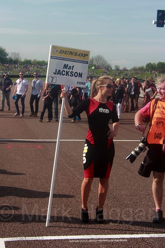 Mat Jackson's grid board during the BTCC Weekend at Thruxton, May 2016