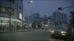 . (OverdeaR [donkey's talking monkey's nodding]) Tags: street rain japan lights evening travels traffic dusk taxi osaka 711 cinematic prefecture pp jpn prospects heavypush