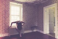 Bent but not Broken (sadandbeautiful (Sarah)) Tags: woman house selfportrait abandoned me female self pennsylvania fauxfilm