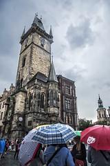 It's raining (terezaslowikova) Tags: umbrella czech prague praha czechrepublic raining oldtown oldtownsquare staromestskenamesti czechia staromestskaradnice