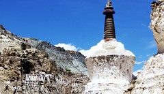 Monastery on The Rock (Tomas Pfeifer) Tags: sky history rock architecture landscape monastery zanskar chorten budhist gompa budhism phuktal