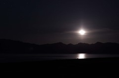 Moonrise over Pyramid lake (CatseyeGomez) Tags: moon lake night pyramid nevada