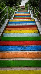 Regenbogentreppe (svenschmidt1) Tags: street rainbow stairway treppe architektur regenbogen eisenach architecteure