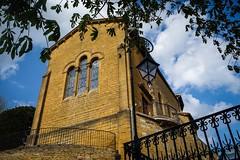 (kimbar/Thanks for 3.5 million views!) Tags: bourgogne burgundy church france oingt rhonealps village fence streetlamp