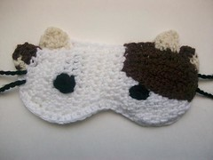 Mooey sleep mask (Mooy) Tags: sleeping cute animal cow mask handmade sleep crochet sleepy kawaii etsy sleepmask mooey mooeyandfriends
