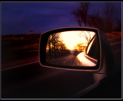 Rearview Sunset by subadei, on Flickr