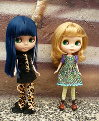 Blythe mini meet, Summer with her new friend Asia