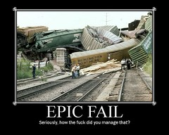 Epic Fail (Youra Dick) Tags: old bridge train that you crash how did epic bnsf fail manage