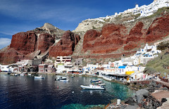 Santorini again (12.000+ views!) (msdstefan) Tags: ocean holiday volcano lava harbour urlaub santorini greece hafen griechenland santorin oia vulkan mittelmeer virtualjourney saariysqualitypictures mediteraniean