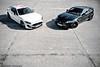MC S vs. XKR-S (Keno Zache) Tags: car canon photography eos power photoshoot duo mc jaguar schwarz maserati stradale granturismo sportcar keno weis 400d zache xkrs