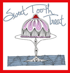 Sweet Tooth (Paint Chip) Tags: doodle zentangle zendoodle lineweaving