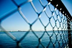 Bridge over the Fence (megawheel360) Tags: bridge blue autumn sea sky fall japan canon geotagged eos tokyo asia 5d jpn kotoku geo:lat=3563462070 geo:lon=13980055848