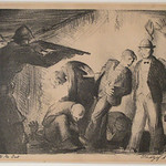 """<b>The Lights Go Out</b><br/> Fridtjof Schroder (1917-1990) """"The Lights Go Out"""" Lithograph, 1940 LFAC #681<a href=""""http://farm8.static.flickr.com/7146/6466326545_09084c4363_o.jpg"""" title=""""High res"""">∝</a>"""