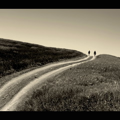 together (s@brina) Tags: life road two italy path walk siena toscana valdorcia sentiero cammino explorefrontpage saariysqualitypictures