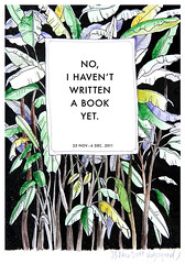 No, I haven't written a book yet (k.dmitrijewa) Tags: trees plants black green illustration book mixed background bio banana cover type eco futura pennyjey