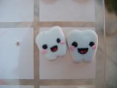 Aretes de muelitas (KaWAii TsUKi (shop)) Tags: cute animal lolita kawaii otaku joyeria arcilla