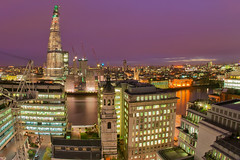 The Shard From The Monument (SLR Joe) Tags: london themonument londonskyline thethames theshard